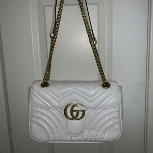 Authentic Gucci White Purse Marmont